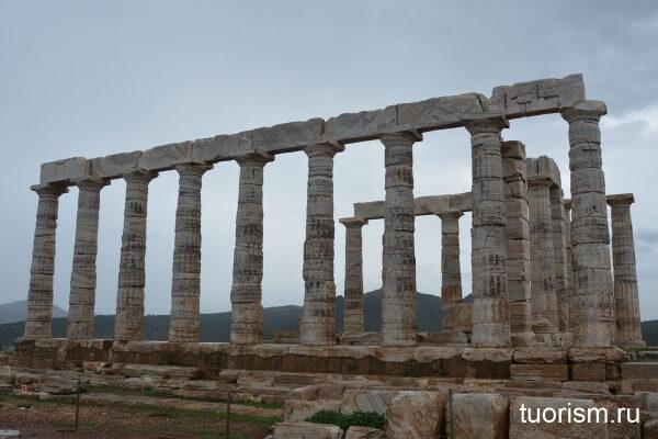 храм посейдона, сунион, фото, афины