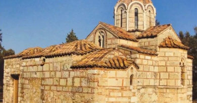 Церковь, Оморфокклисиа, Святого Георгия, Афины, достопримечательность, православная церковь