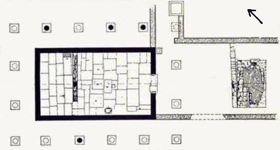 храм аполлона зостера, план, афины, храм аполлона