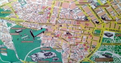 карта, достопримечательности Афин, маршрут, 10 дней, Athens, sights, plan
