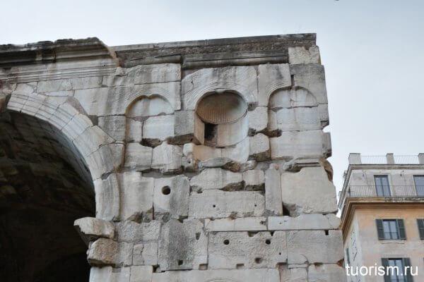 ниши, фальшивые ниши, арка, арка Януса, достопримечательность, Arch of Janus in Rome