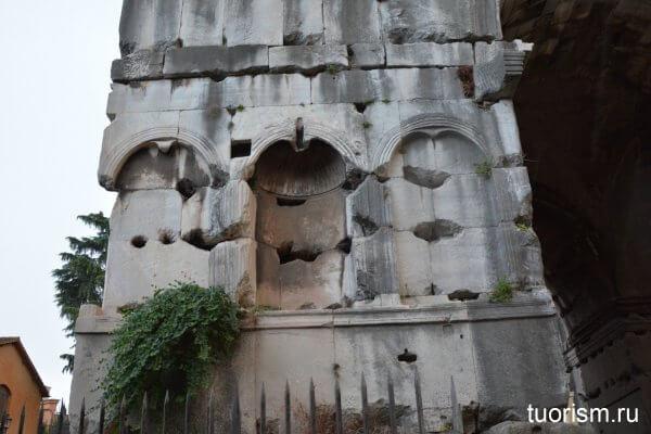 фальшивые ниши, арка Януса, Рим, что посмотреть