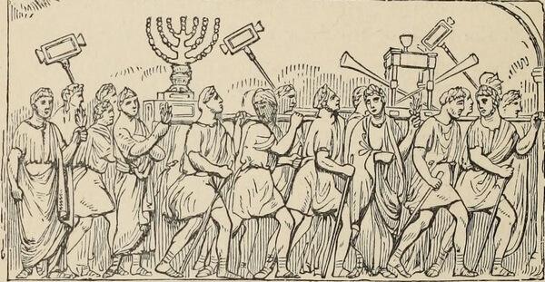 Падение Иерусалима, триумфальная арка тита, рим