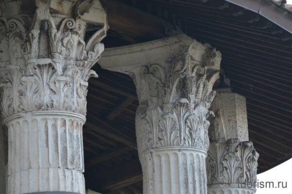 капители, храм Геркулеса, римский круглый храм