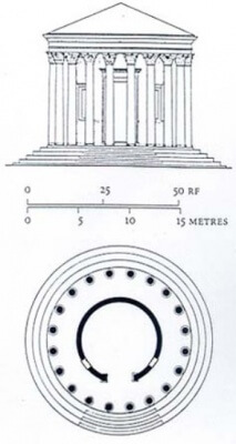 храм геркулеса, рим, план