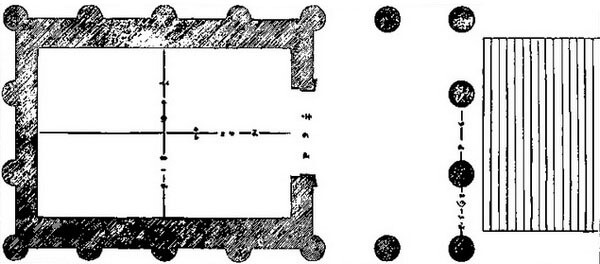 план храма Портуна, Рим, храм фортуны вирилис
