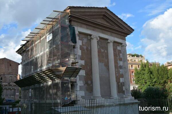 храм Портуна, Рим, реставрация