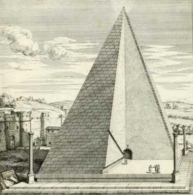 пирамида Цестия, мавхолей Цестия, рим