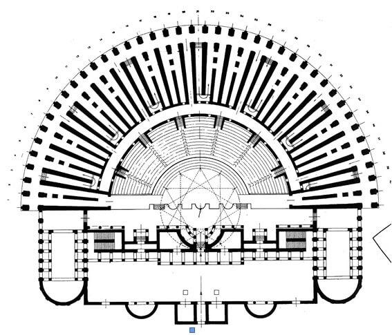 Театр Марцелла, план