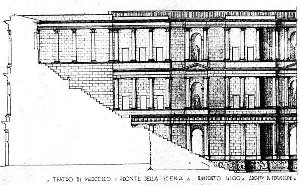 скена, театр Марцелла, Рим, римский театр