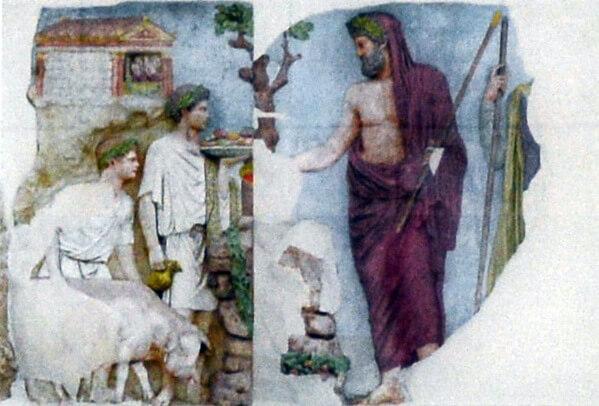 Эней, алтарь Мира, рельеф, цветной рельеф, Древний Рим