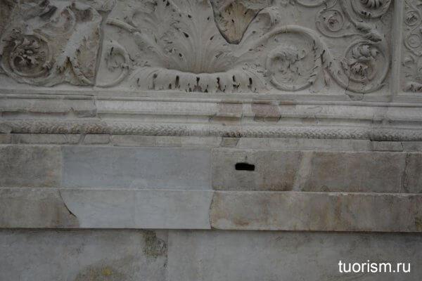 фундамент, древнеримский, алтарь, Рим