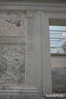 угол, алтарь Мира, рельеф, Рим, античность