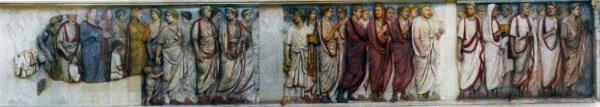цветной рельеф, алтарь Мира, процессия