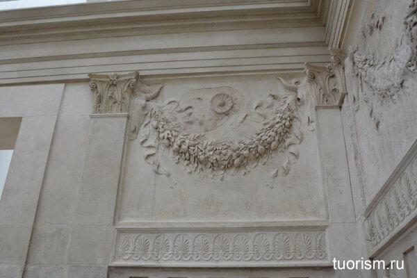 фруктовая гирлянда, рельеф, горельеф, алтарь Мира, внутри, внутренние стены, патера, Рим