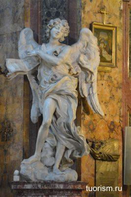 анггел, Бернини, статуя ангела, церковь, inri, мост Ангела, Angel with the Superscription, Rome, Bernini