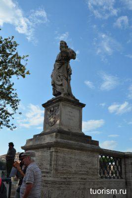 Святоё Пётр, статуя, Рим, мост, Statue of St Peter
