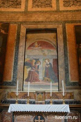Благовещение, Мерлоццо да Форли, фреска, Пантеон