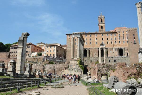храм Сатурна, Табуларий, Римский форум, Рим, Temple of Saturn, Roman forum, Rome