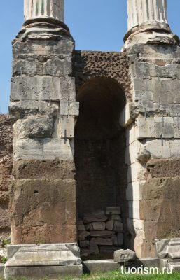 храм Диоскуров, колонны, Рим, деталь, Temple of Castor and Pollux, temple od Dioscuri, Rome