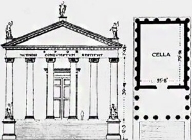 план, храм Сатурна, Рим