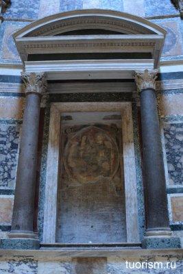 фреска, Пантеон, коронование Богородицы, Тосканская школа