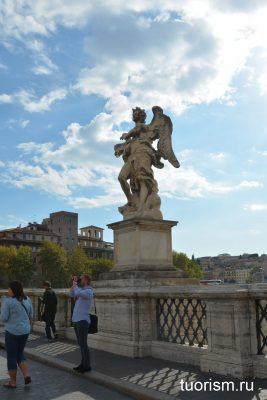 статуя ангела, Рим, мост ангела, inri, аббревиатура, статуя, Angel with the Superscription, Rome