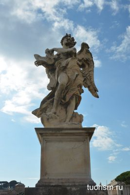 статуя ангела, мост ангела, Рим, Angel with the Superscription, Rome