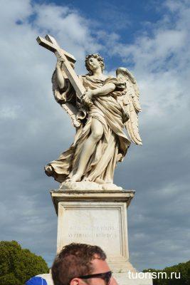 мост ангела, ангел с крестом, статуя, Рим, Angel with the Cross, Rome