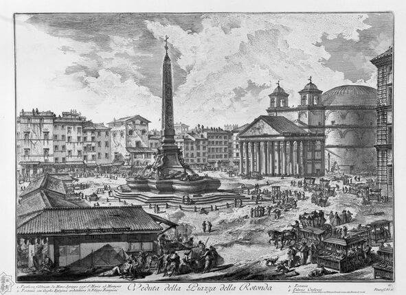 площадь ротонды, фонтан пантеона