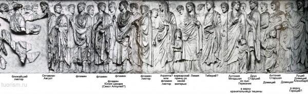 Процессия, алтарь Мира Августа