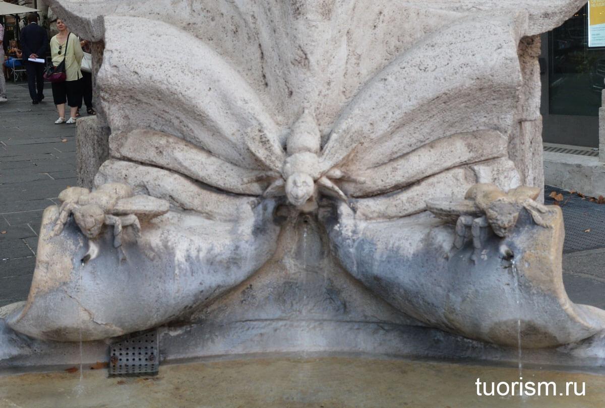 пчёлы Бернини, пчёлы Барберини, Рим, фонтан Пчёл, деталь фонтана