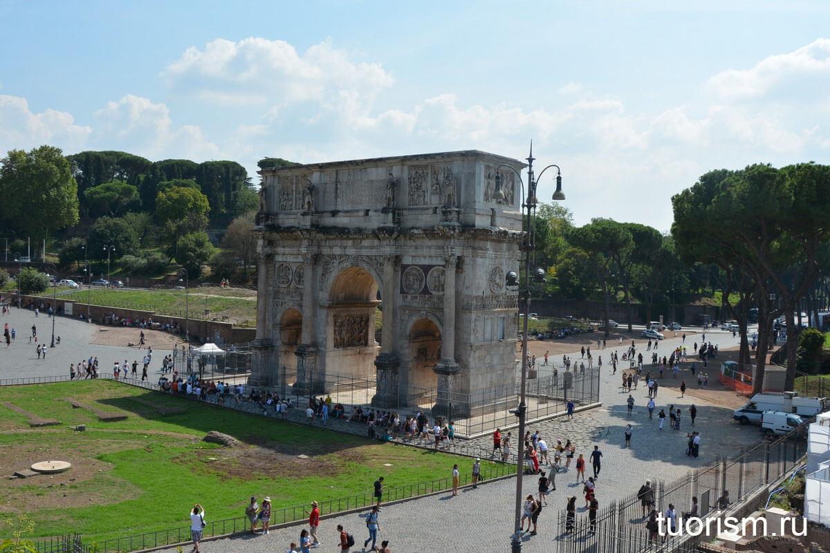 Арка Константина, Рим, достопримечательность, триумфальная арка, главная