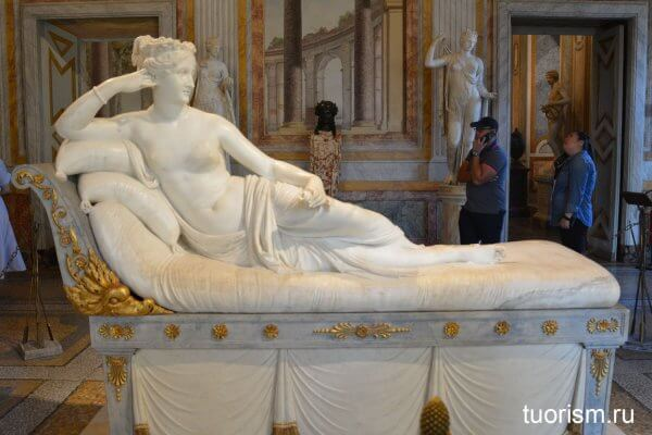 Полина Боргезе Бонапарт, скульптура, Венера, Антонио Канова, галерея Боргезе