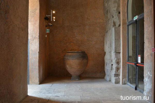римская урна, Табуларий, экспонат, Капитолийский музей, дворец Сенаторов