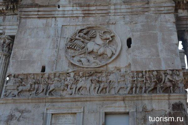 персонификация луны, арка Константина, Рим, рельефная панель, рельеф, Arch of Constantine, Moon