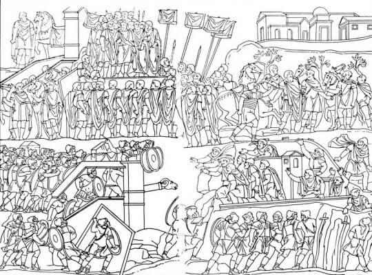 схема, осада города, Рим, война, арка Септимия Севера, римский форум