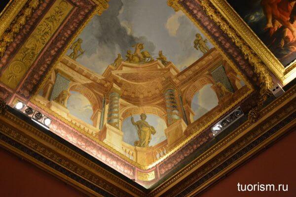 потолок, роспись, галерея Боргезе, зал Геркулеса