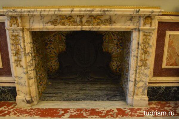камин, зал 12, феррарский зал, галерея Боргезе