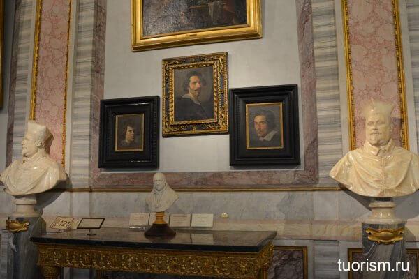 автопортрет бернини, лоренцо бернини, портрет мальчика, бюст шипионе боргезе, бюст павла 5, галерея Боргезе