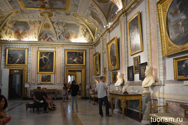Лоджия Ланфранко, галерея Боргезе, внутри, залы, как выглядит, Loggia di Lanfranco