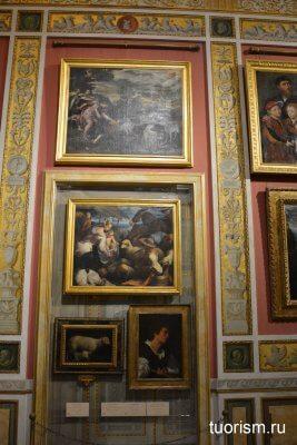 картины, галерея Боргезе, зал Авроры, зал 15
