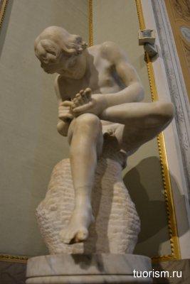 скульптура, Мальчик с занозой, Боргезе, галерея, статуя, неизвестный