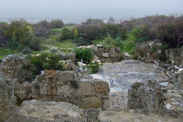 базилика, Кампанопетра, Саламин, Кипр, руины, мозаика, римская мозаика