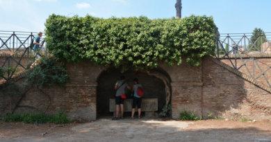 питьевой фонтанчик, Палатинский холм, Рим, Палатин, Palatine hill, sweet water, fountain