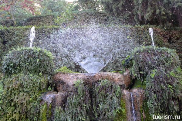 фонтанчик, веер, лилия, вилла д'Эсте, улица ста фонтанов