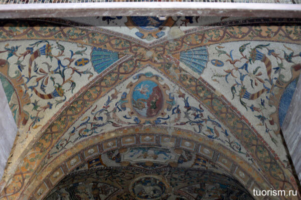грот Дианы, потолок, красота, искусство, вилла д'Эсте, Grotto of Diana