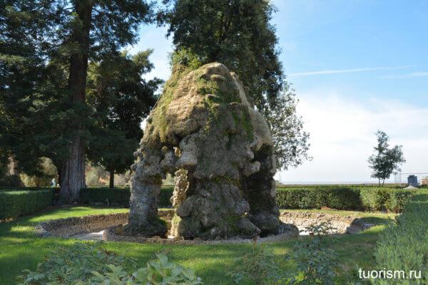 фонтан Мете, вилла д'Эсте, пещера, рустикальный фонтан