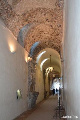коридор, длинный, узкий, вилла д'Эсте
