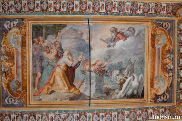 фреска, ной на горе Арарат, вилла д'Эсте, потолок, Noah, villa d'Este, fresco